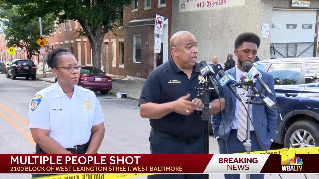 Raw: BPD says 6 people shot in west Baltimore