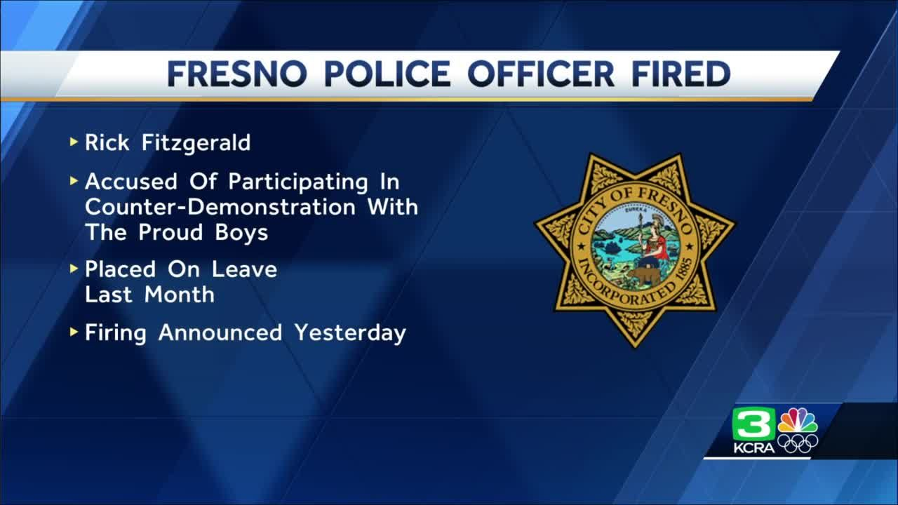 Fresno officer with former ties to extremist group fired