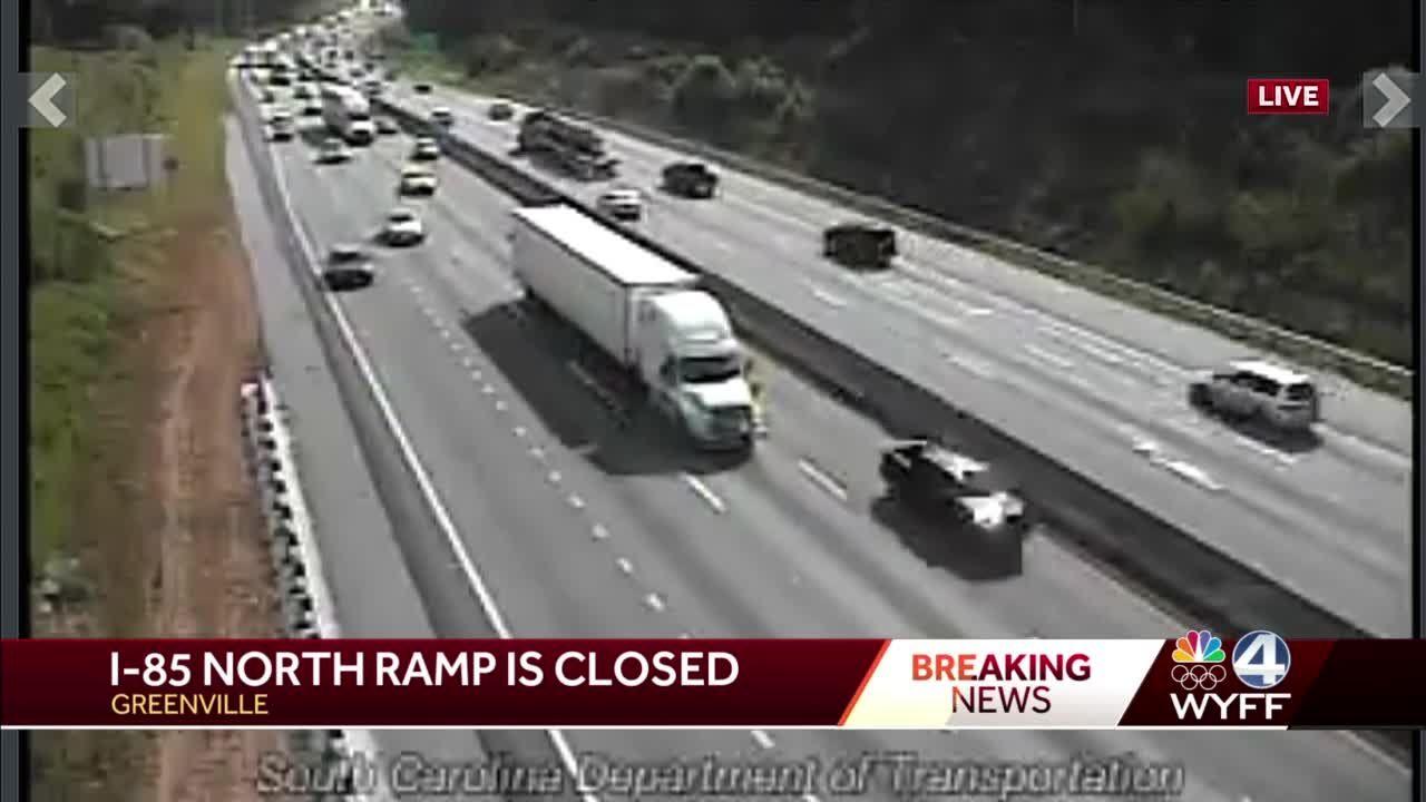 Accident reconstruction team closes I-85 ramp