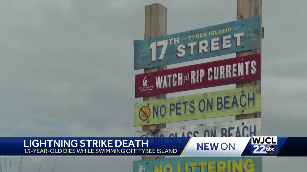UPDATE: 15-year-old dies after being struck by lightning off Tybee Island