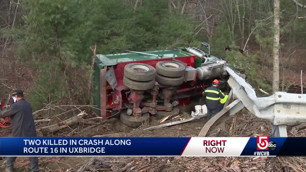 2 killed in car, dump truck crash