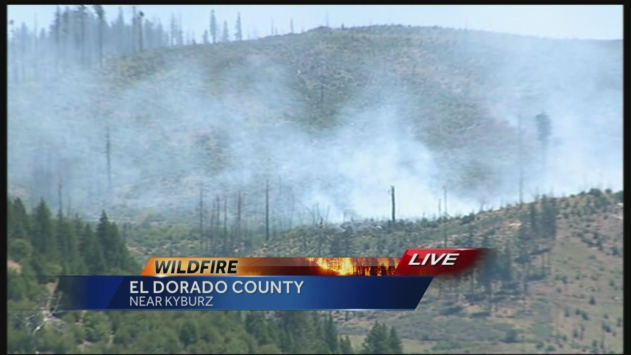 Wildfire Near Kyburz Still Smoldering