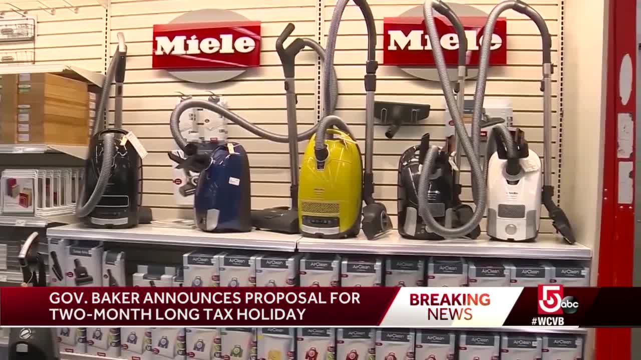 Baker pushes for 2-month-long sales tax break