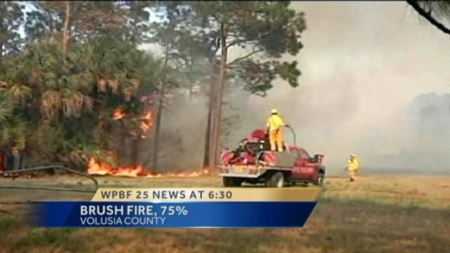 Firefighters Busy With Brush Fires Across Florida