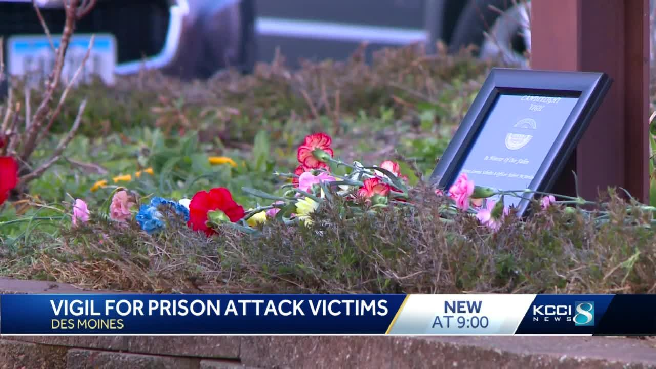 Mourners gather in Des Moines to honor slain Anamosa prison employees