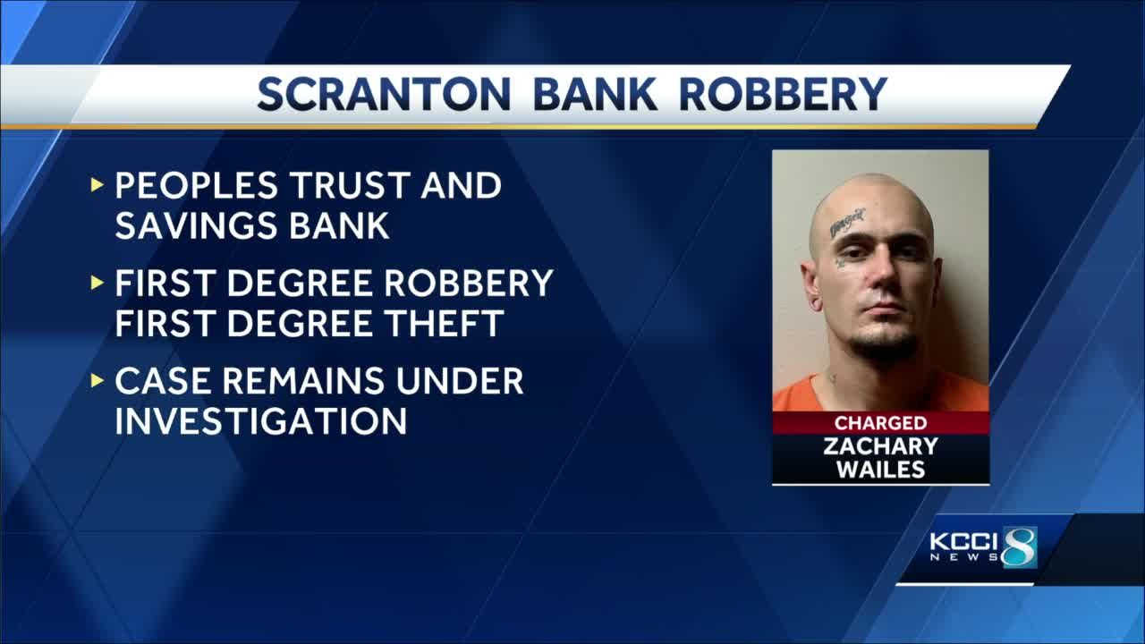 Fort Dodge man charged with robbing bank