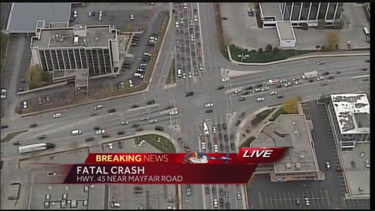 Hwy 45 remains closed at 6pm following crash