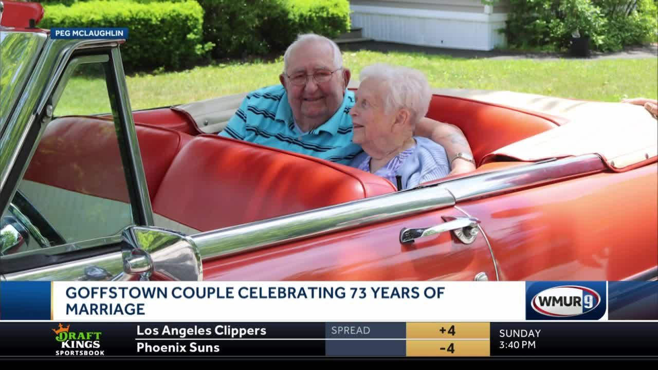 Goffstown couple celebrating 73 years of marriage