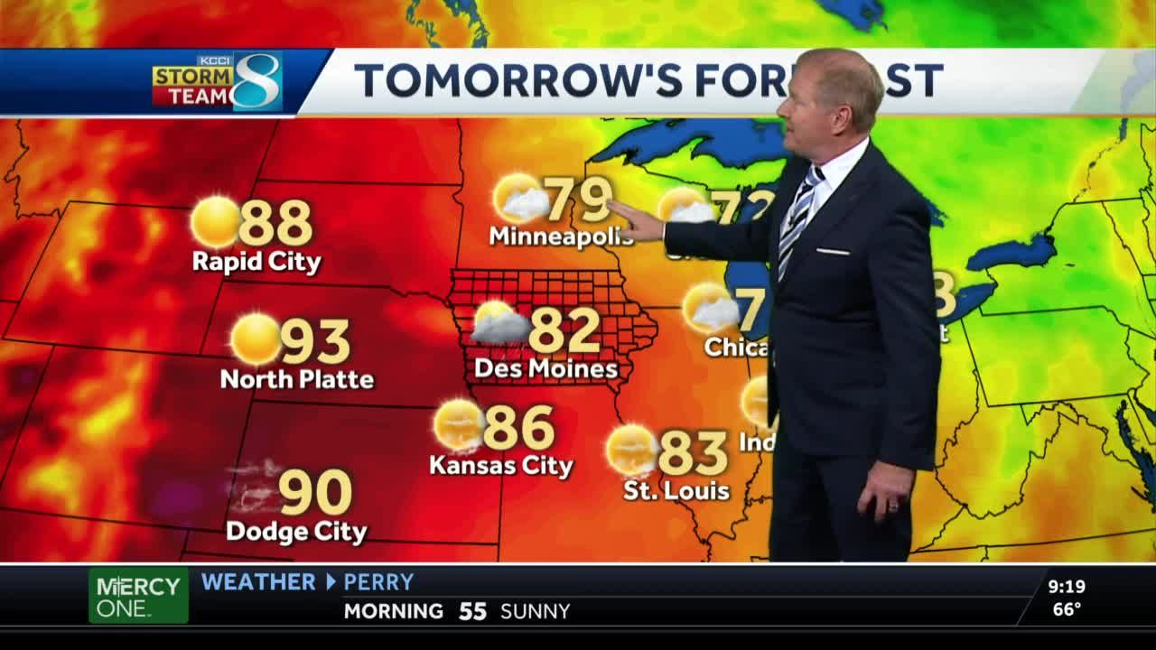 Scattered storms return to central Iowa Tuesday