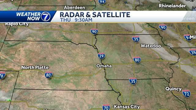 Highs get close to 70 degrees in the Omaha metro Thursday