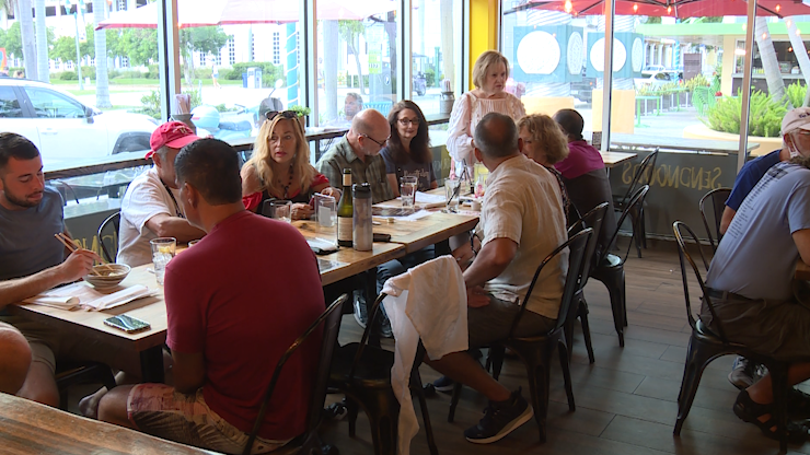 Local residents support restaurant owner who was target of racist rant