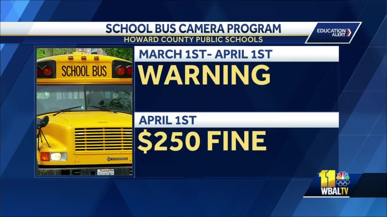 Howard school buses get cameras to catch drivers who illegally pass