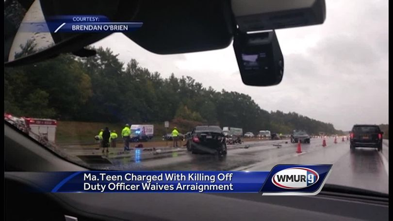18-year-old driver charged in Mass  officer's death waives arraignment