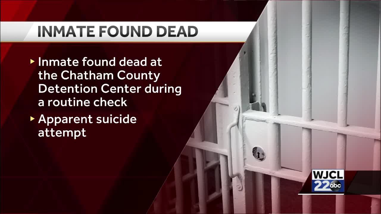 Chatham County jail suicide