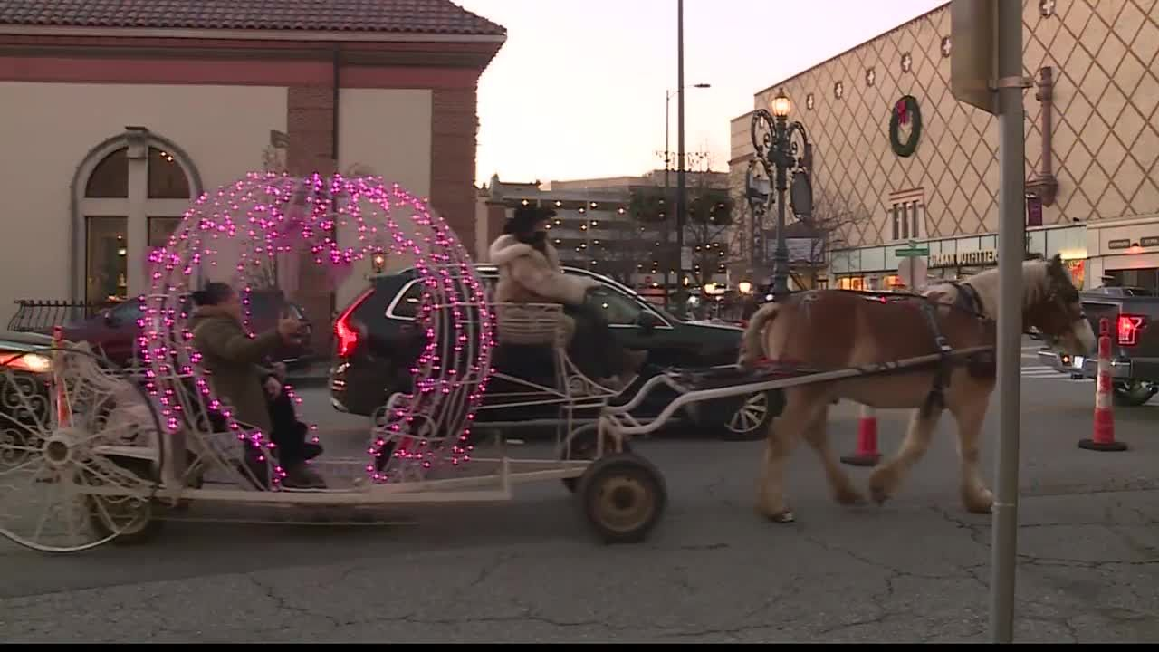 Holiday tradition of horse-drawn carriages on the Plaza continues