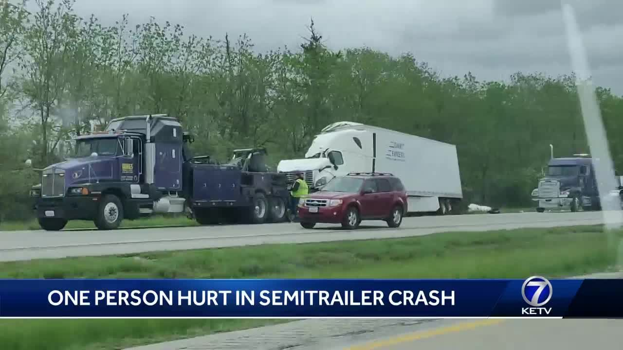 One person injured in semitrailer crash