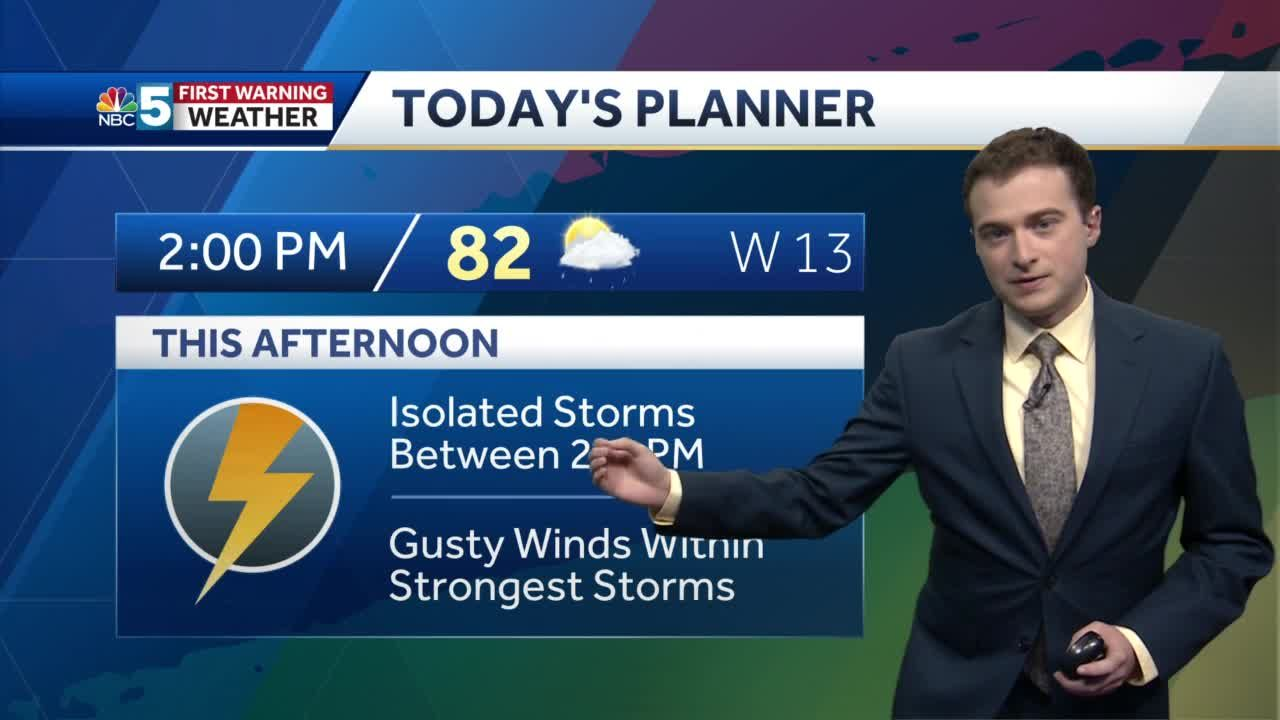 Video: Isolated storms Saturday afternoon (6-19-21)