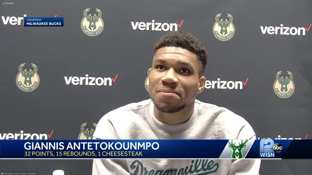 Giannis gets a Philly cheesesteak