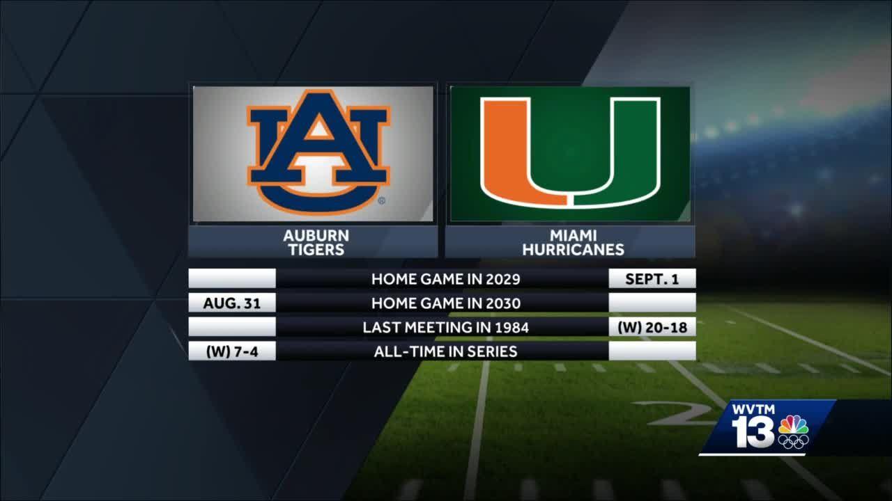 Auburn, Miami set home-and-home football series