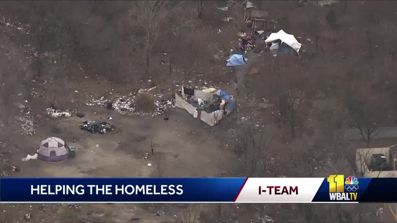 Homeless advocates bring services to Baltimore encampment