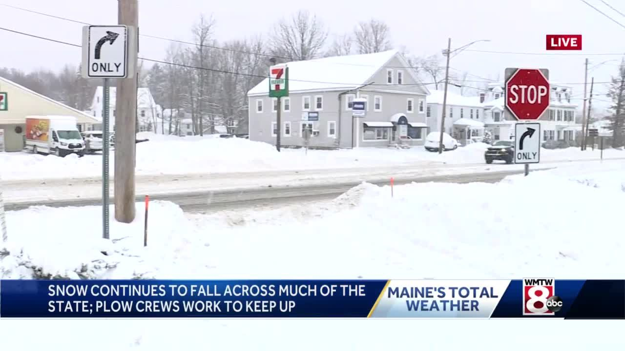 Town By Town Some Parts Of Maine See Foot Of Snow