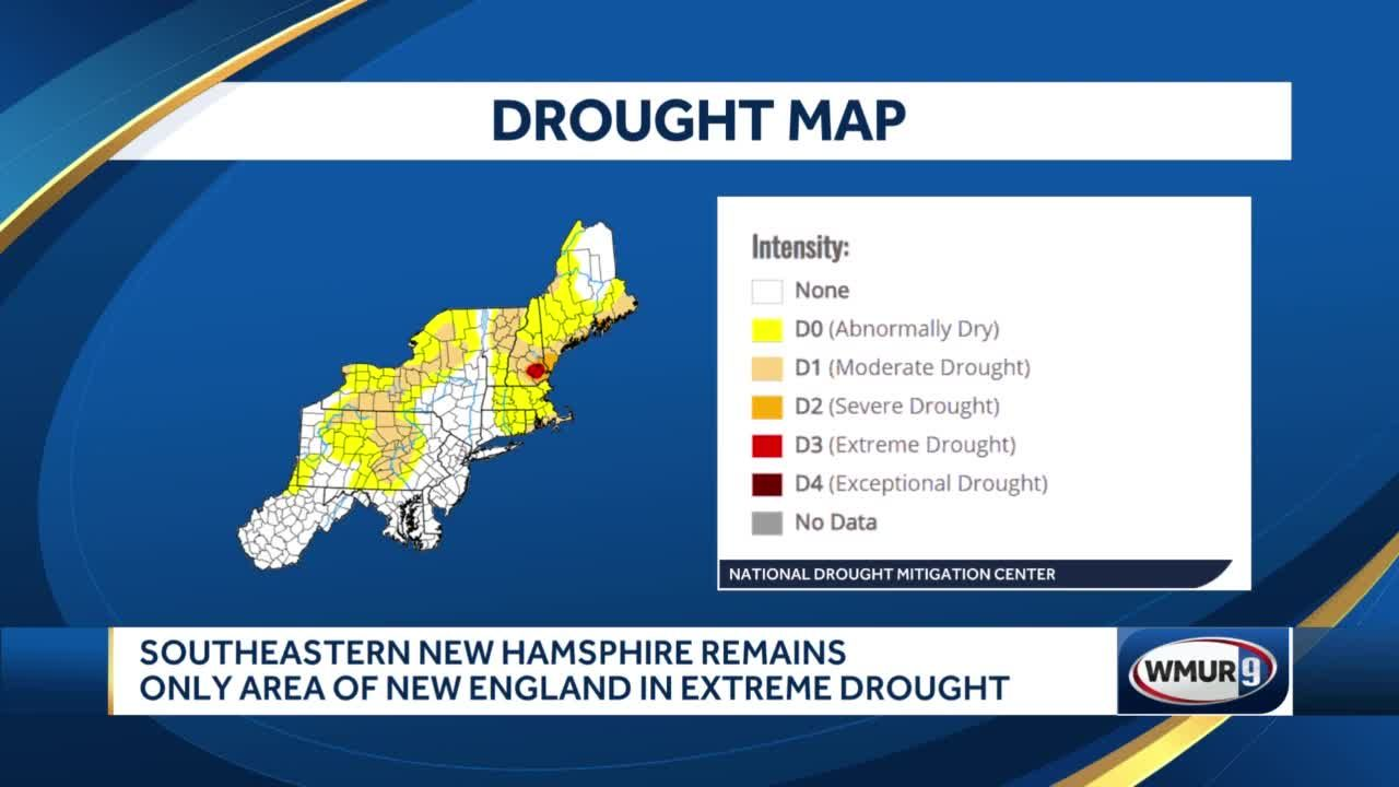Southeastern NH remains only area of New England in extreme drought