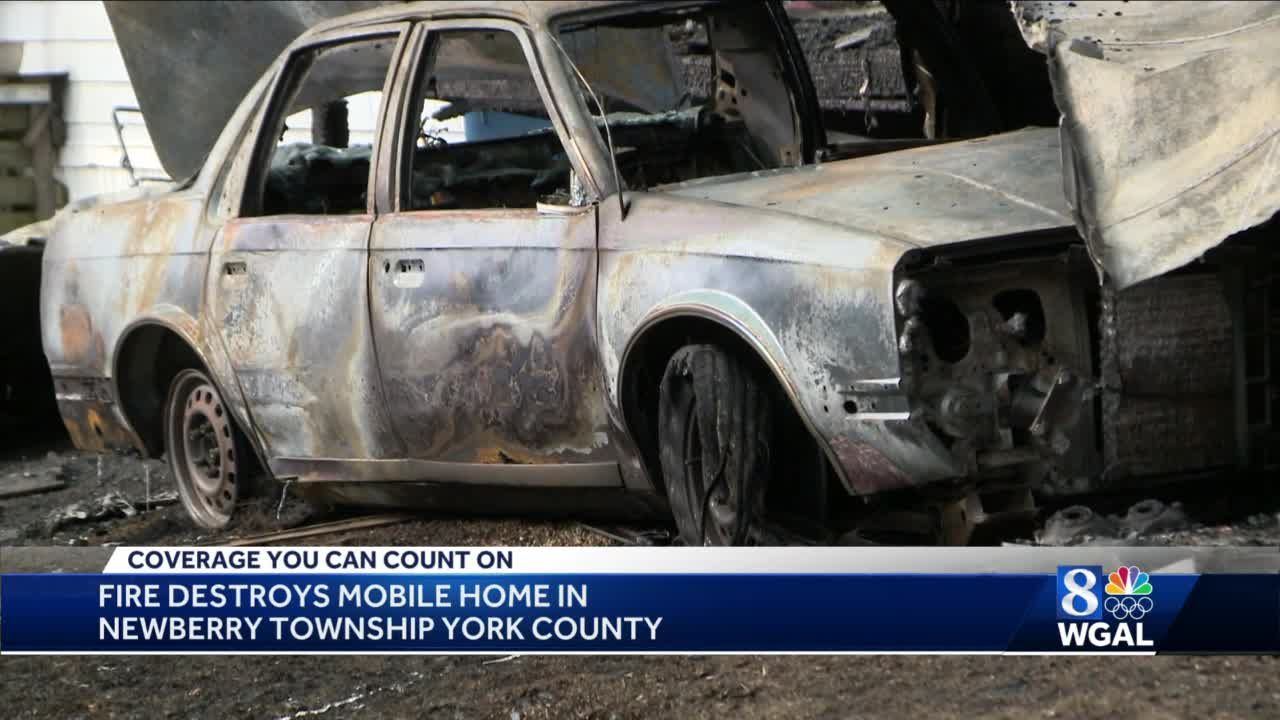 Fire destroys mobile home in York County