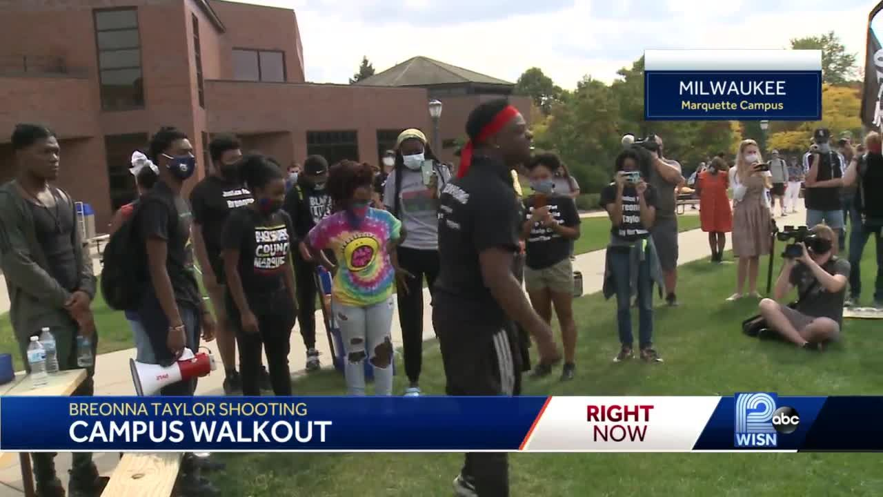 Students rally in Breonna Taylor protest at Marquette