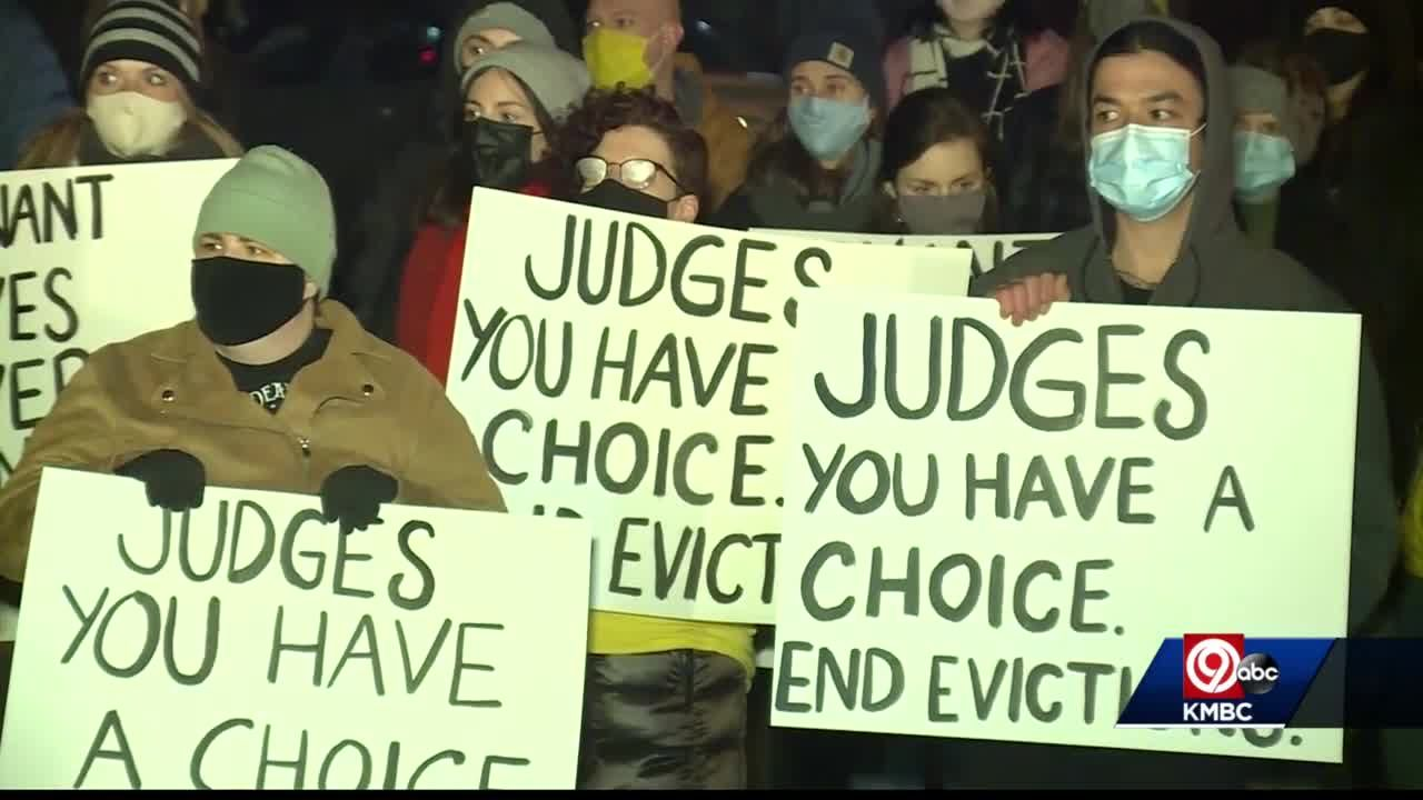 KC Tenants protests evictions outside another Jackson County judge's home