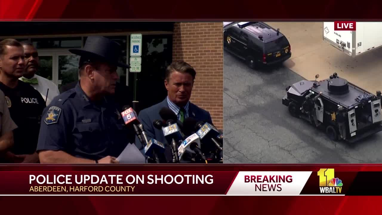 Harford sheriff: Multiple fatalities, multiple wounded in Aberdeen shooting