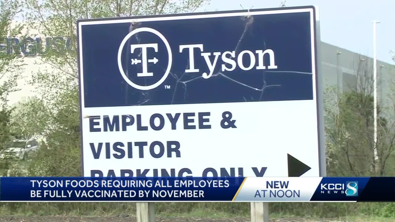 Tyson Foods to require COVID-19 vaccines for all U.S. employees