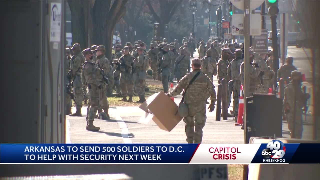 Arkansas National Guardsmen going to DC for inauguration