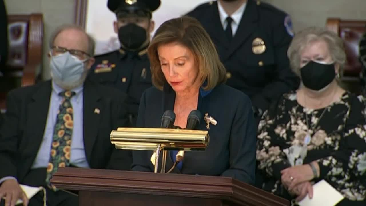 Speaker Pelosi remembers Officer Evans