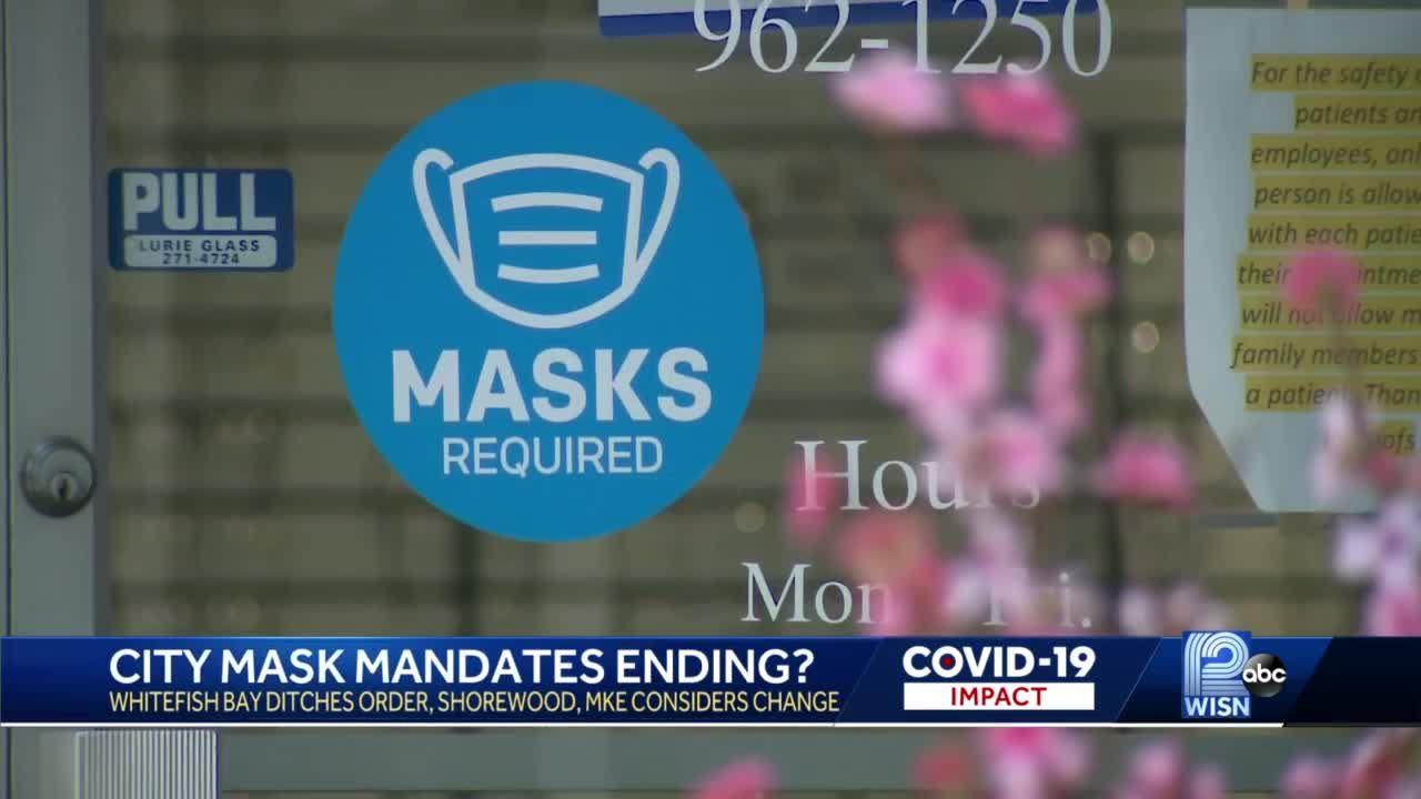 City mask mandates ending?
