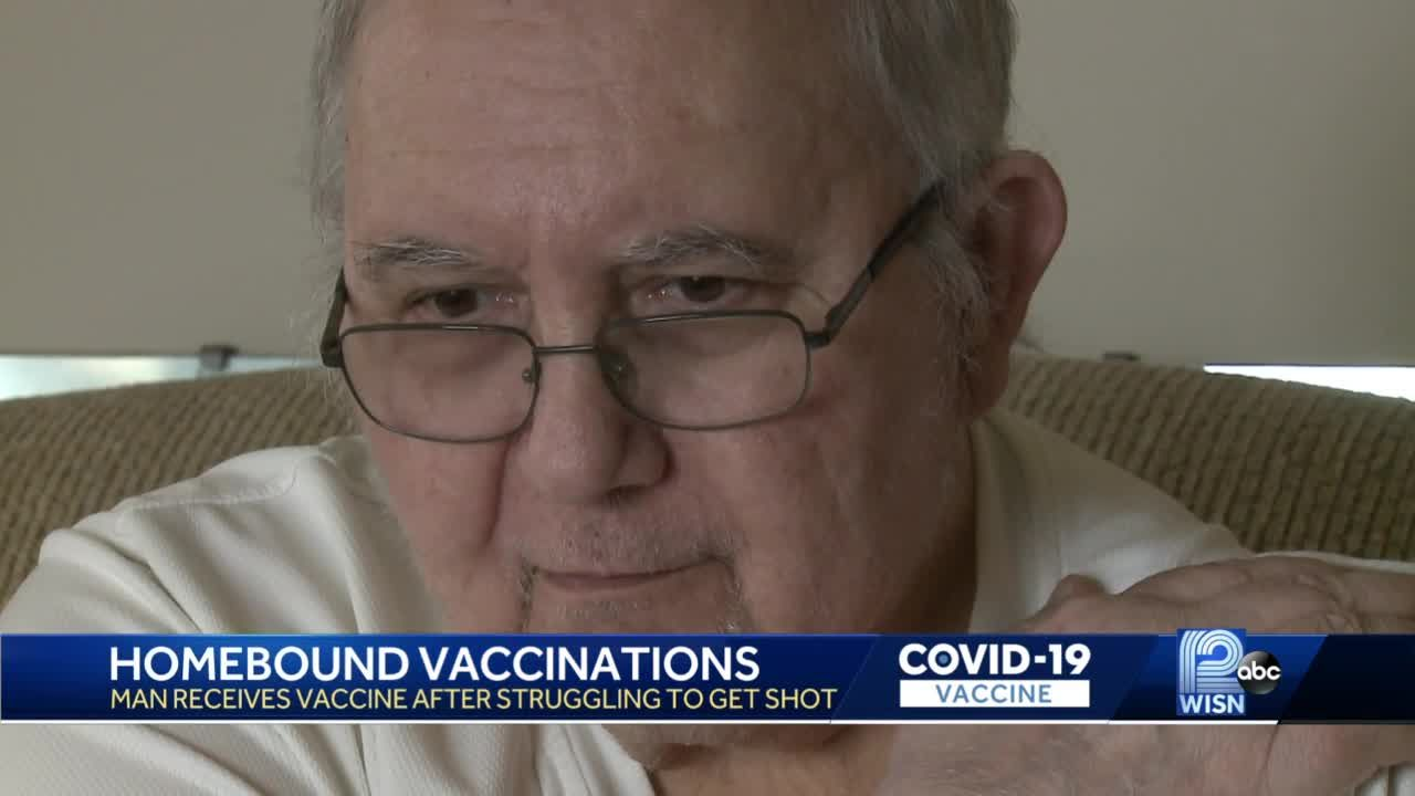 Homebound man gets vaccinated after plea for help