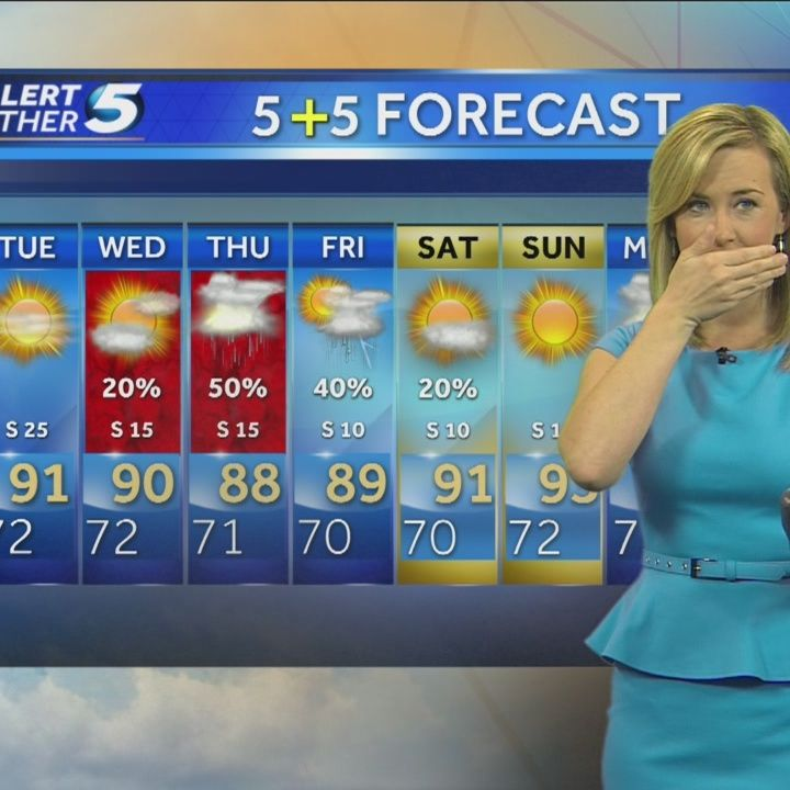 Meteorologist reacts when quake hits during weathercast