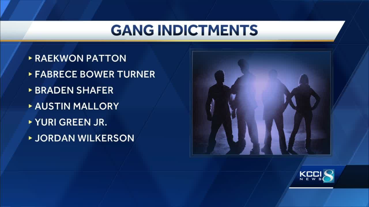 Department of Justice charges 6 members of Des Moines-based 'street gang'