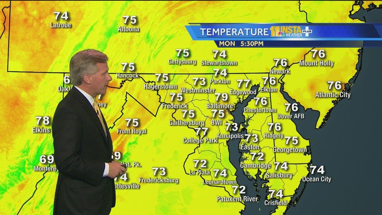 Monday Night S Maryland Weather Forecast