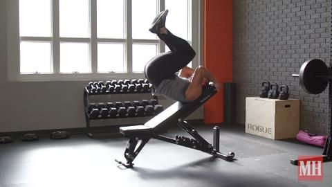 How to Do the Incline Reverse Bench Crunch