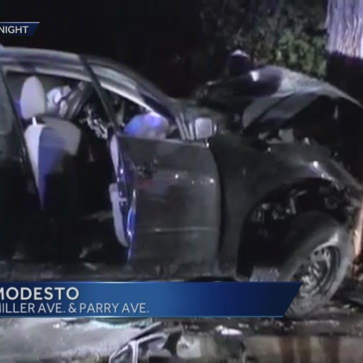 3 Modesto teens avoid traffic stop, die in crash