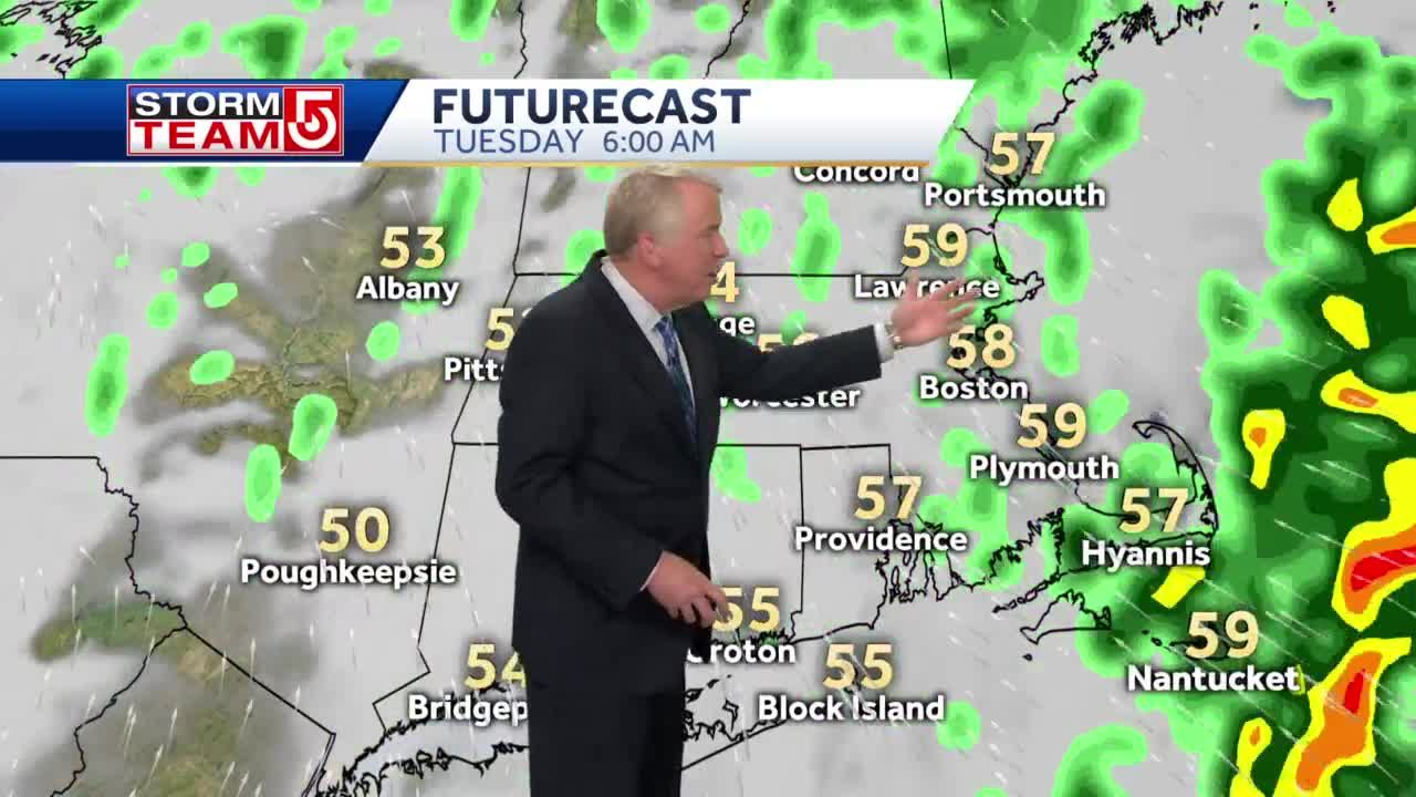 Video: Breezy, rainy start to Tuesday following powerful storms