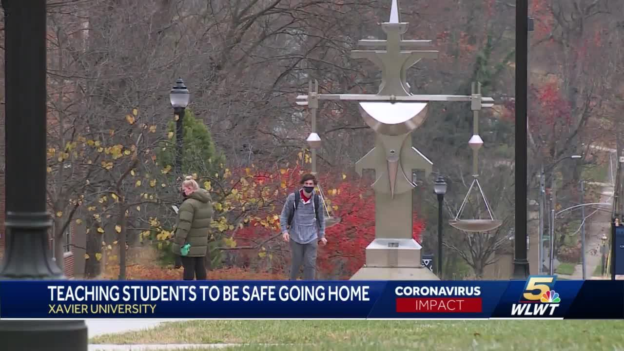 Xavier University students head home for finals, winter break, trying to prevent spread of COVID-19