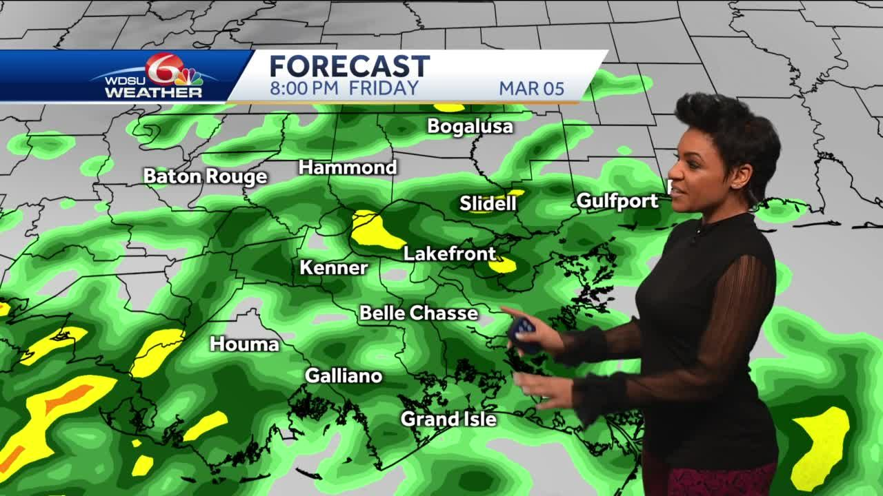 Warmer with more sun today, showers return Friday
