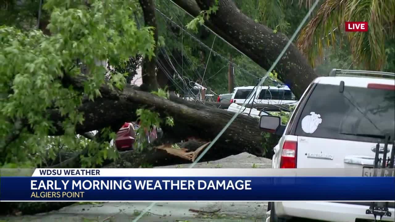 Significant storm damage seen in Uptown after sun rises