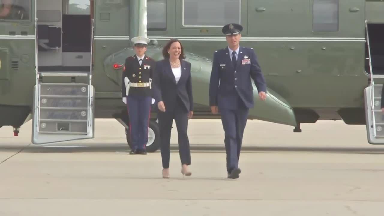 VP Kamala Harris departs Joint Base Andrews