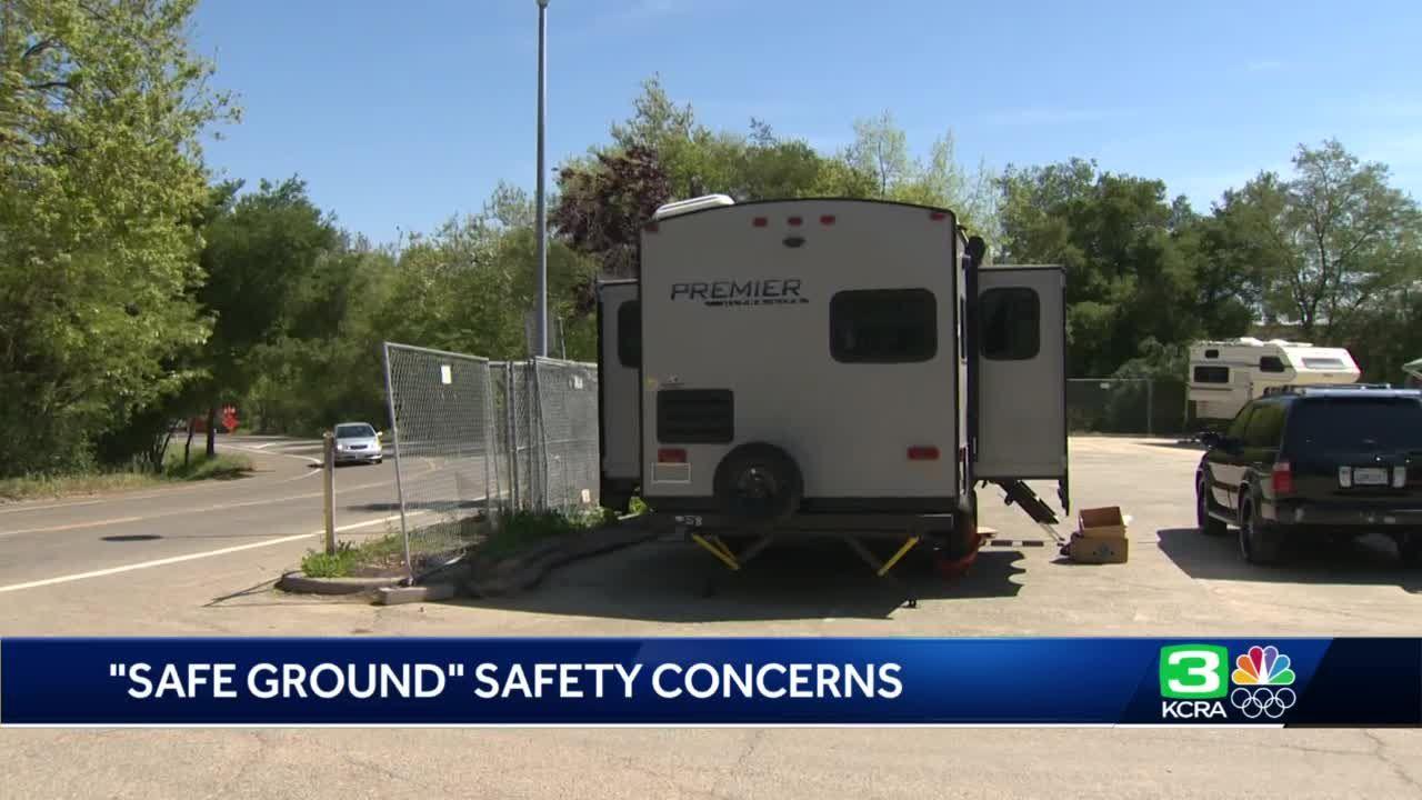 Sacramento opens 'safe ground' site for homeless individuals