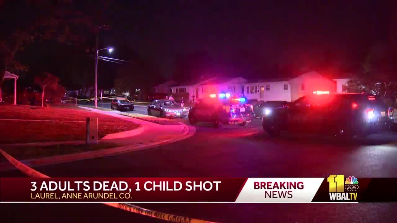 3 adults dead, child injured in domestic-related shooting in Laurel