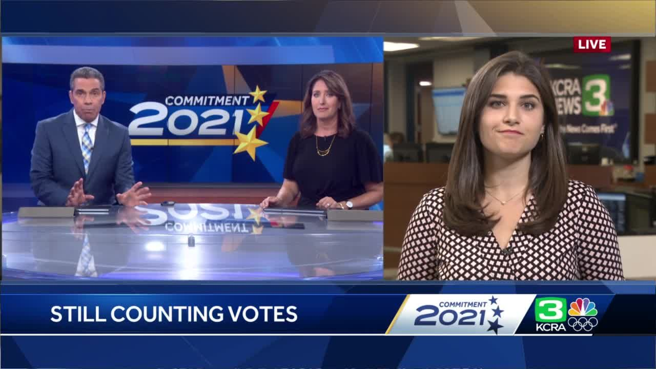 How was the recall election called by news organizations, with millions of ballots left to count?