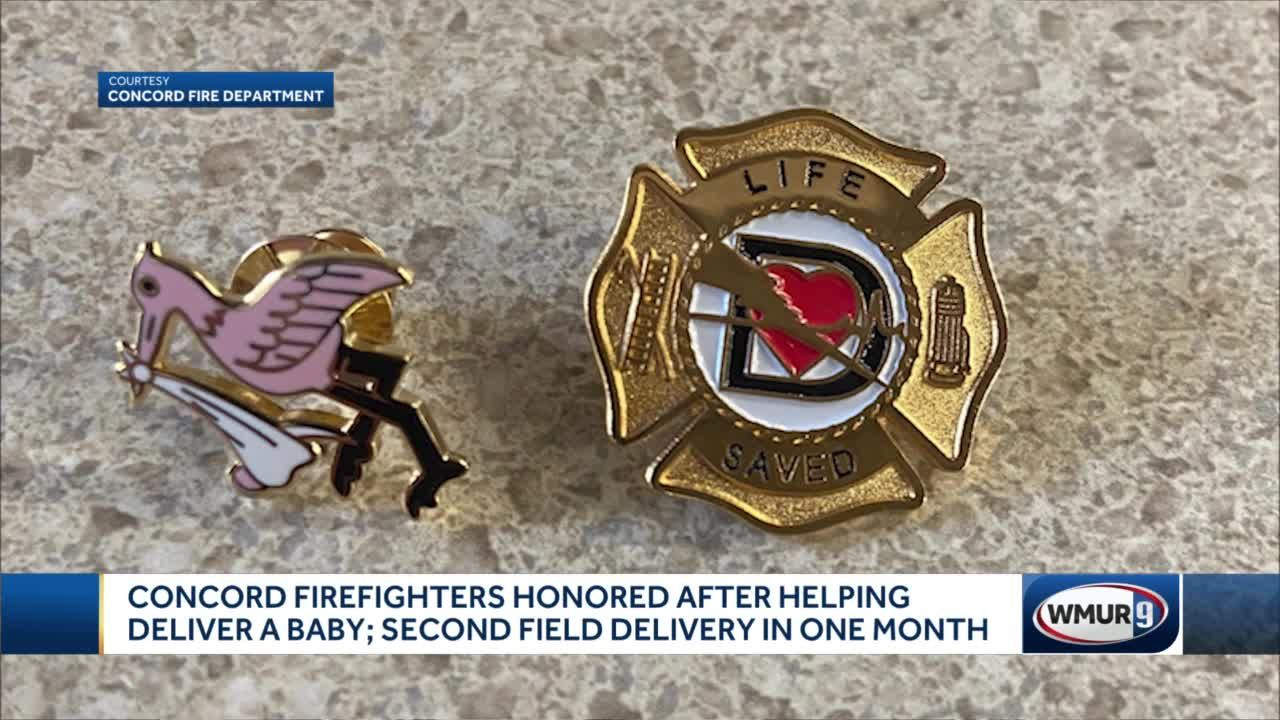 Concord firefighters honored after helping deliver a baby