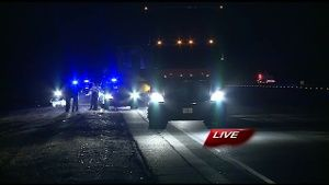 Woman dies after being hit by a semi-truck on Interstate 40